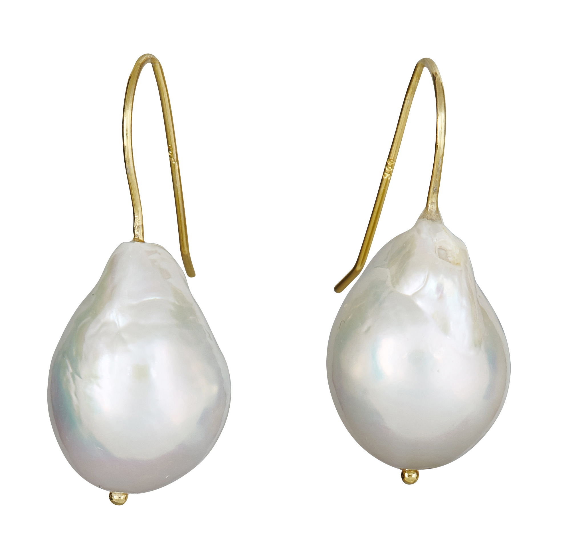 water earrings lyst jewelry yvel baroque in ylwgold pearl product stud white metallic gallery fresh