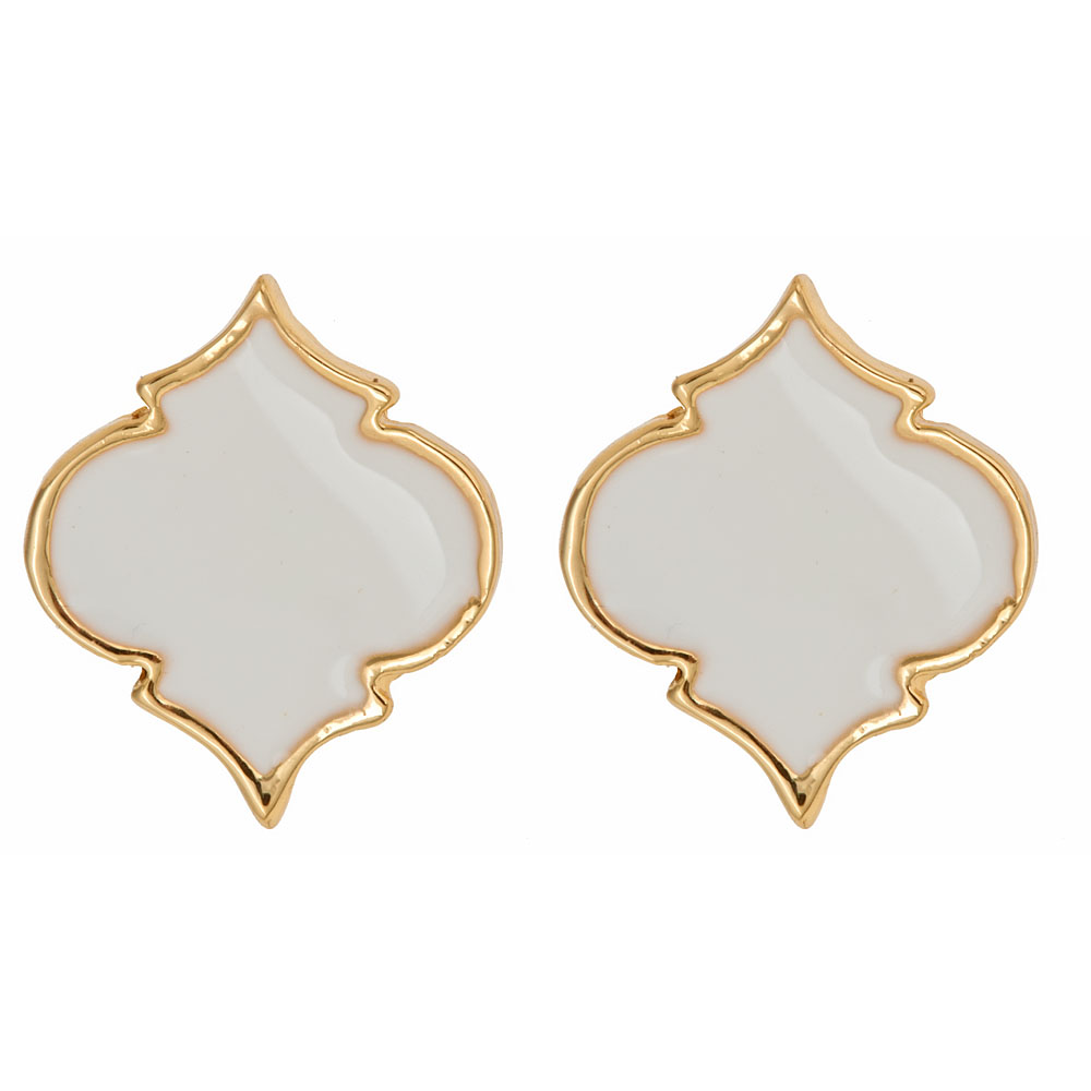 Enamel Spade Earrings Fornash
