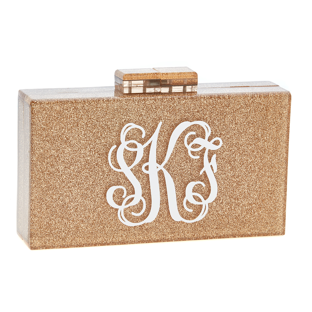 Monogrammed Diana Clutch Fornash