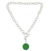 Monogrammed Toggle Necklace with Disc