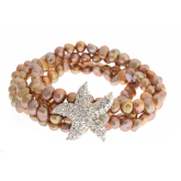 Taupe Freshwater Pearl Starfish Bracelet