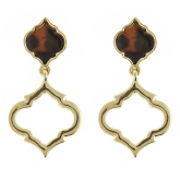 Double Spade Tortoise Earrings