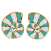 Striped Ocean Earrings
