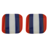 Three-Fruity Stripe Earrings