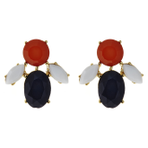 Three-Tone Lucy Earrings - LAST CHANCE
