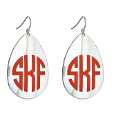 Monogrammed Charleston Teardrop Earrings