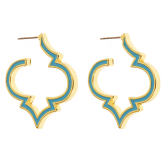 Enamel Signature Earrings