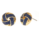 Enamel Twist Earrings