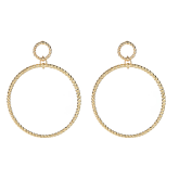 Rope Ring Earrings - Gold