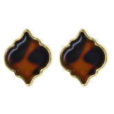 Tortoise Spade Earrings