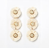 Triple Raffia Earrings