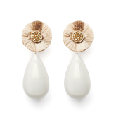 Raffia White Pearl Jackie Earrings