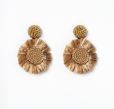 Raffia Sun Earrings