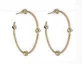 Rope Knot Earrings - Gold