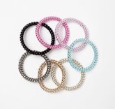 Mettalic Small Hello Hair Tie Set