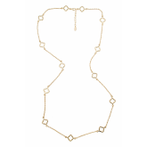 Long Cut-Out Spade Necklace