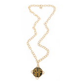 Monogrammed Long Madeline Necklace