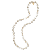 Long Pearl Bead Nugget Necklace