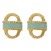 Small Enamel Basket Earrings