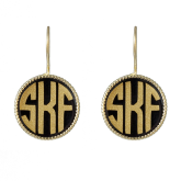 Small Monogrammed French Hook Earrings