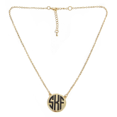 Monogrammed Soft Chain Charleston Necklace
