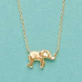 Soft Chain Elephant Necklace