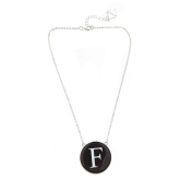 Monogrammed Enamel Soft Chain Necklace