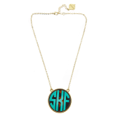 Monogrammed Tortoise Soft Chain Necklace
