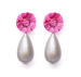 Raffia Gray Pearl Jackie Earrings