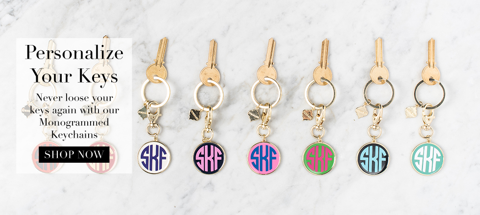 Personalize Your Keys - Monogram Keychains