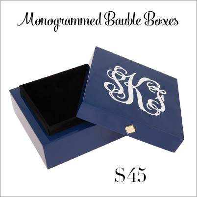 Monogrammed Bauble Boxes