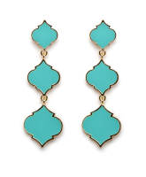 Enamel Triple Spade Earrings