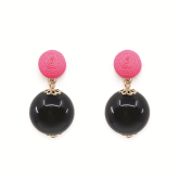 Thread Black Candy Earring