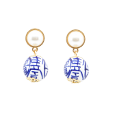 China Blue Earrings