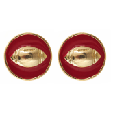 Enamel Football Earrings