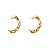 Fire Hoop Earrings