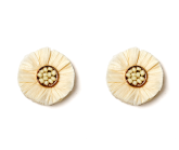 Raffia Stud Earrings
