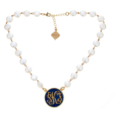 Monogrammed Blanche Necklace