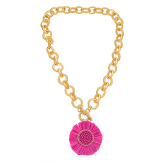 Raffia Sun Necklace