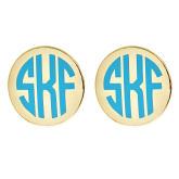 Monogrammed Small Charleston Earrings