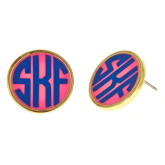 Monogrammed Small Earrings