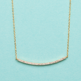 Soft Chain Diamond Sparkle Necklace