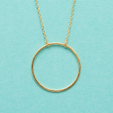 Soft Chain Large Ring Necklace