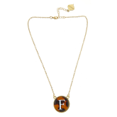 Monogrammed Tortoise Baby Soft Chain Necklace